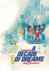 DISNEY WORLD TENCENNIAL POSTER